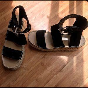 NEW Rag & Bone Black Sandals. Size 9 1/2.